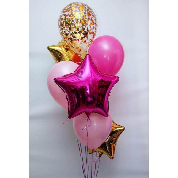Сет шаров Pink&Gold
